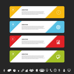 Design clean banners template. Infographics vector