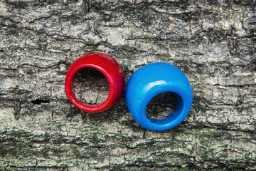 Two colored rings