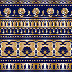 gold Greek seamless background