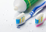 Fototapety Toothbrushes and toothpaste
