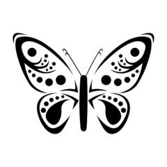 Tatouage Papillon Tribal
