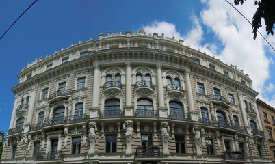 Art nouveau architecture (Riga, Latvia)