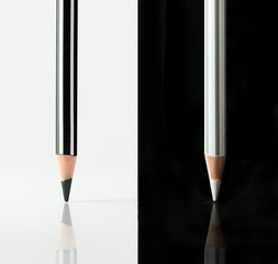Black and white color pencils