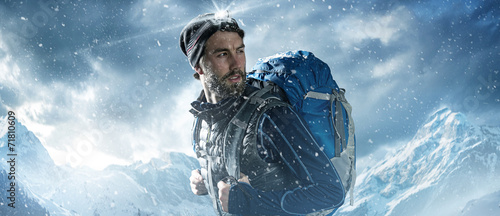 canvas print picture Mountaineer