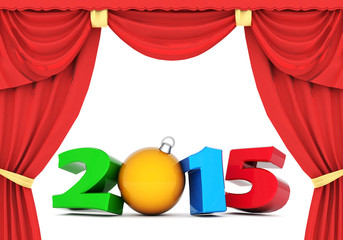 happy new year 2015 Illustrations 3d