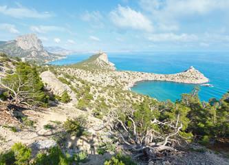 Coastline of Novyj Svit summer view (Crimea, Ukraine)
