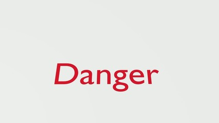 """Wooden Stamp Printing the Word """"Danger"""""""