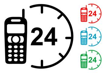 Pictograma atencion 24h con varios colores