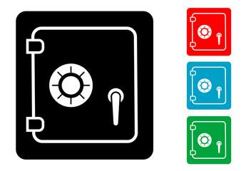 Pictograma caja de seguridad con varios colores