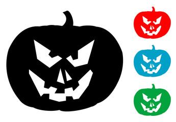 Pictograma calabaza de halloween con varios colores