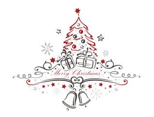 Weihnachtsbaum, Weihnachten, Glocken