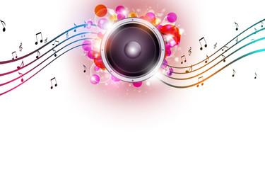 Multicolor Bright Music Background