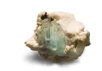 Aquamarine from Gilgit, Pakistan. 7cm across.