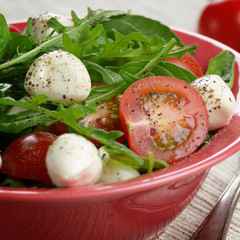 Caprese Salad and bread