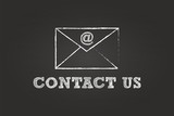 Contact Us By Mail Envelope On Blackboard
