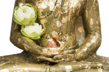 Buddha Image with Lotus