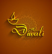 Happy Diwali shiny colorful stylish text background card vector