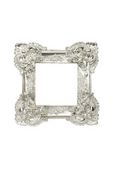 Vintage sliver picture frame isolated clipping path