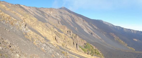 Bove Valley Panorama In Etna National Park, Sicily