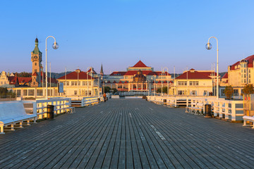 Sunrise at Baltic sea in Sopot, Poland