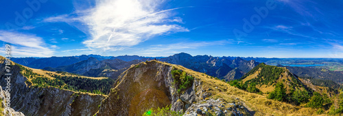 Leinwandbild Motiv Alpenpanorama Allgäu | Ammergebirge