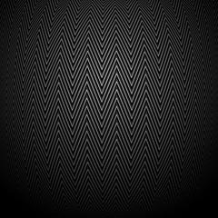 выпуклый узор зигзага на черном фоне