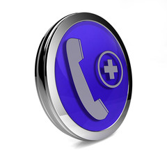 Emergency circular icon on white background