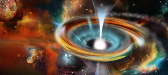 Schwarzes Loch mit Pulsar, Universum, Galaxie