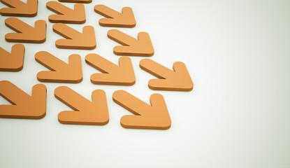 Orange arrows business
