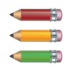 Set of Coloured pencils.