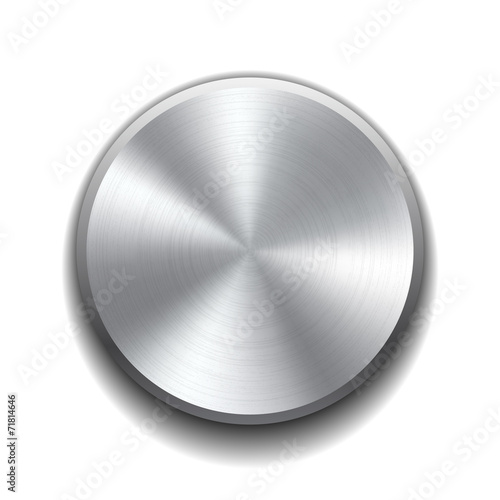 Realistic metal button - 71814646