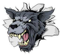 Monster Wolf Mascot Breakthrough
