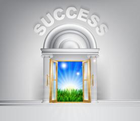 Door to Success concept