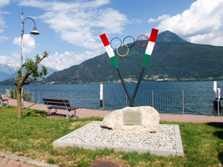 Memorial to Olympic athletes in rowing.