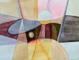 Fototapety a modernist abstract watercolor
