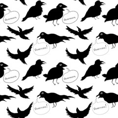 Raven Seamless Background