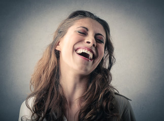 Young lady laughing