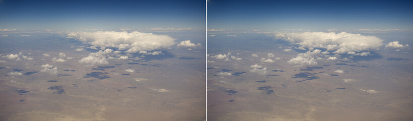 Stereo pair. Clouds over the American mid-west.