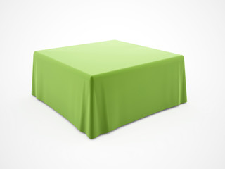 Green table cloth rendered on white