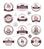 Vintage retro cupcakes bakery badges and labels - 71815860