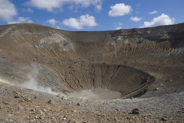 Volcanic crater on the aeolian island of Vulcano.