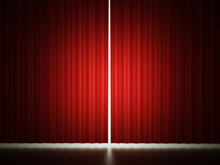 Red curtain concept