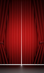Red curtain cloth
