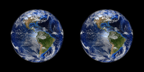 Earth stereo pair. To make 3D images in any format.