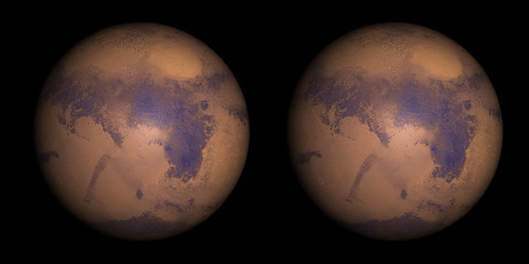 Mars stereo pair. For 3D images in any format.