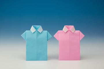 シャツの折り紙