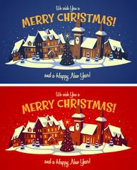 Christmas town. Christmas card