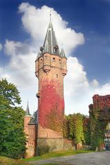 Red Tower of Castle Hradec nad Moravici, Czech Republic