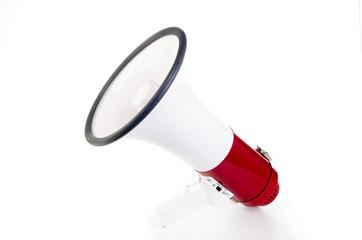 hinweis per megaphone