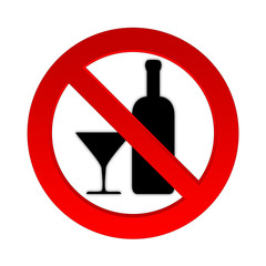 Alkohol Verbotszeichen